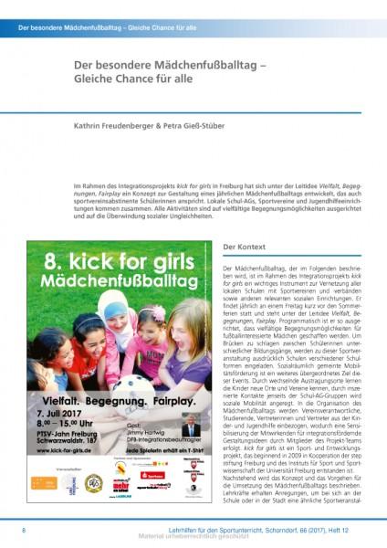 Der besondere Mädchenfußballtag – Gleiche Chance für alle