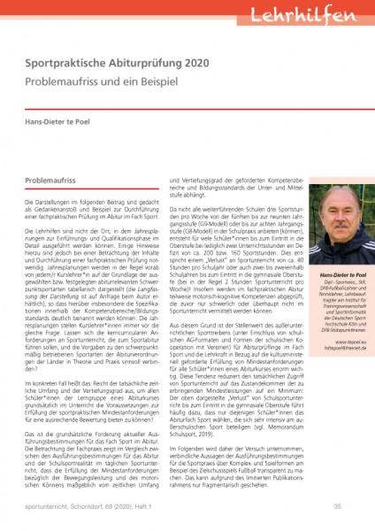 Sportpraktische Abiturprüfung 2020