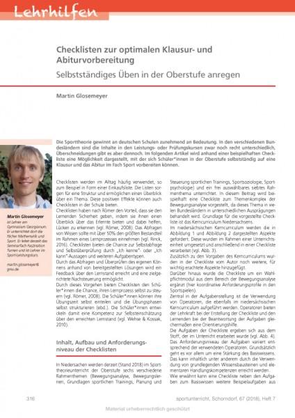 Checklisten zur optimalen Klausur- und Abiturvorbereitung