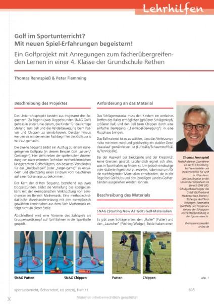 Golf im Sportunterricht? Mit neuen Spiel-Erfahrungen begeistern! Ein Golfprojekt mit Anregungen