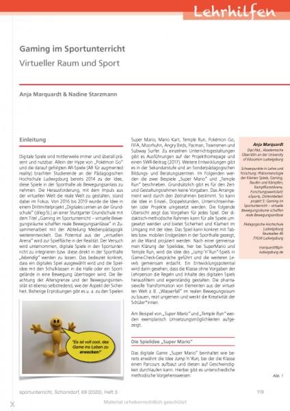 Gaming im Sportunterricht - Virtueller Raum und Sport
