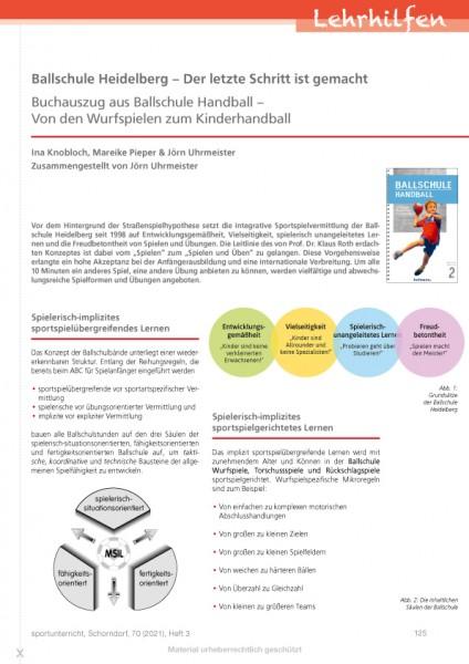 Ballschule Heidelberg – Der letzte Schritt ist gemacht (Buchauszug aus Ballschule Handball)