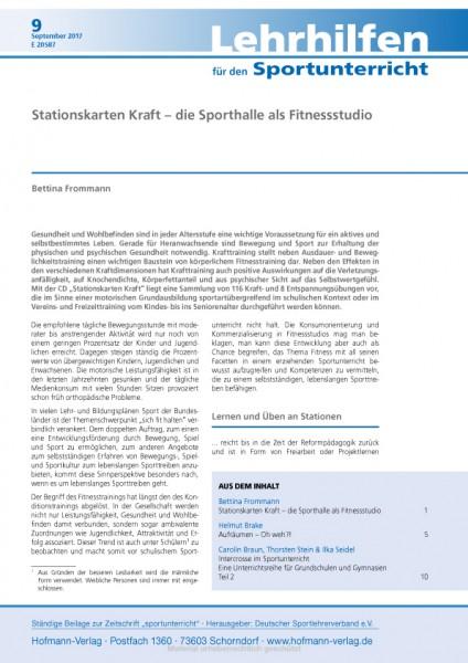 Stationskarten Kraft – die Sporthalle als Fitnessstudio