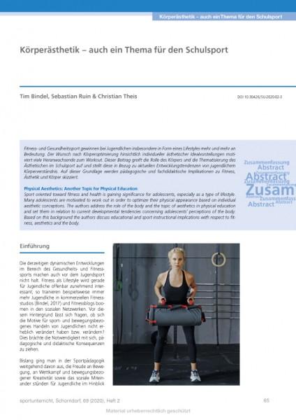 Körperästhetik – auch ein Thema für den Schulsport