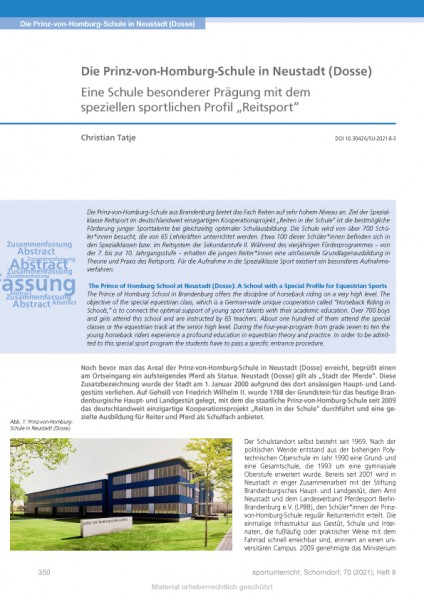 """Die Prinz-von-Homburg-Schule in Neustadt (Dosse)- Eine Schule mit dem Profil """"Reitsport"""""""