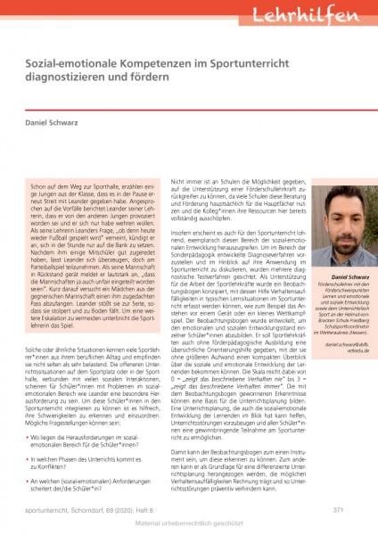 Sozial-emotionale Kompetenzen im Sportunterricht diagnostizieren und fördern