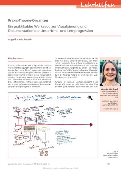 Praxis-Theorie-Organizer - Ein Werkzeug zur Dokumentation der Unterrichts- und Lernprogression