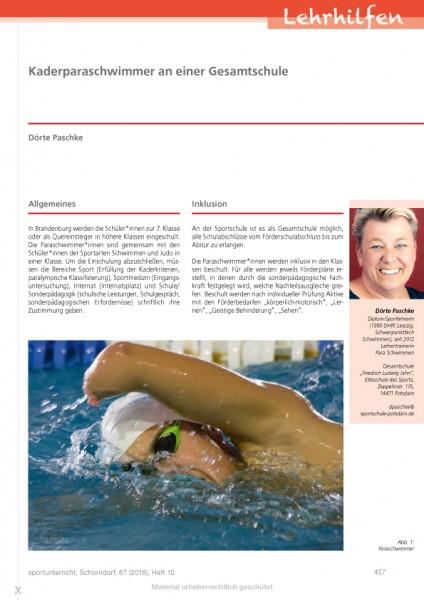 Kaderparaschwimmer an einer Gesamtschule