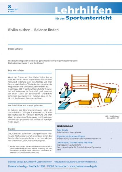 Risiko suchen – Balance finden