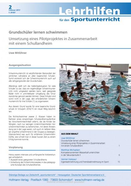 Grundschüler lernen schwimmen - Umsetzung eines Pilotprojektes mit einem Schullandheim